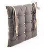 Lushomes Sedona Sage & Ecru Cotton & Polyester 16 x 16 Inch Half Panama Chair Pad