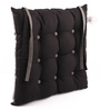 Lushomes Sedona Sage & Pirate Black Cotton & Polyester 16 x 16 Inch Half Panama Chair Pad