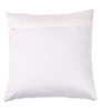 Lushomes Silver & White Polyester 16 x 16 Inch Foil Printed Cushion Covers - Set of 5
