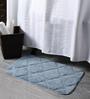 Lushomes Silver Polyester 16 x 24 Bath Mat