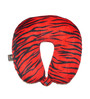 Lushomes Tiger Skin Printed Polyester Red Neck Pillow