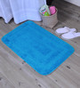 Lushomes Turquoise Polyester 20 x 32 Bath Mat
