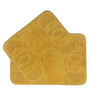 Lushomes Yellow Cotton Bath and Toilet Mat - Set of 2
