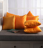 Lushomes Yellow Polyester 12 x 12 Inch Cushion Covers - Set of 10