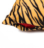 Lushomes Yellow Polyester 16 x 16 Inch Tiger Skin Printed Cushion Covers - Set of 5
