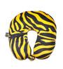 Lushomes Zebra Skin Printed Polyester Yellow Neck Pillow