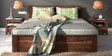 Lynden Slatted Queen Bed with Storage in Provincial Teak Finish by Woodsworth