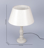 Lyde Table Lamp in off White by Amberville