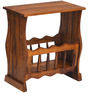 Lynx Magazine Rack in Walnut Colour by @home