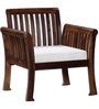 Lytton One Seater Sofa in Provincial Teak Finish by Amberville