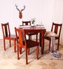 Granville Four Seater Dining Table Set in Honey Oak Finish by Amberville