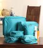 M Square Smart Traveller Water proof Nylon & Breathable Mesh Blue Organiser - Set of 7