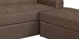 Maceio Storage Sofa cum Bed with Ottoman in Brown Colour by CasaCraft
