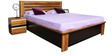 Magna King Size Bed in Teak Finish by Home City