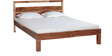 Bellevue Queen Size Bed in Natural Sheesham Finish by Woodsworth
