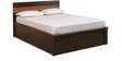 Mandalay King Bed with Hydraulic Storage in Brown Colour by @ Home