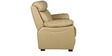 Manhattan Leather Two Seater Sofa in Beige Colour by HomeTown