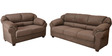 Maria Sofa Set (3 + 2) Seater in Brown Colour by @home