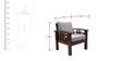 Mariana Teak Wood Sofa Set (3 + 1 + 1) Seater in Fresh Walnut Finish by Finesse