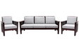 Mariana Teak Wood Sofa Set(1 + 1 + 3) Seater in Fresh Walnut Finish by Finesse