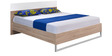Marilyn High Gloss King Size Bed in Oak & White Colour by @home