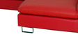 Mariona LHS Three Seater Sofa with Lounger in Red Colour by Casacraft