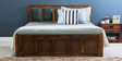 Maritsa King Size Bed in Provincial Teak Finish by Woodsworth