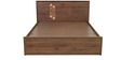 Mauricio Queen Bed with Storage in Columbia Walnut Finish by Mintwud