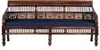 Maurya Handcrafted Three Seater Sofa in Provincial Teak Finish by Mudramark