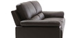 Maximus Leatherette Collection -Three Seater Dark in Brown Colour by Furny