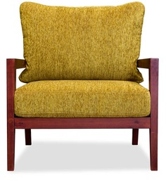 Malaca Armchair in Beryl Green & Rosewood Colour by Durian