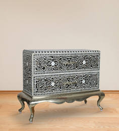 Malava Chest of Drawer with Mother Of Pearl Inlay Work by Mudramark