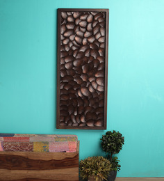 MALHAR Brown Iron Coffee Bean Wall Showpiece