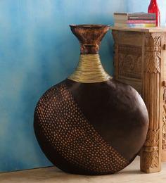 Malik Design Copper Black Iron Surai Flower Vase