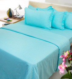Mark Home Blues Cotton 27 X 18 Pillow Covers - Set Of 2