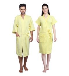 Mark Home Yellow Terry Cotton Bath Robe - Set of 2