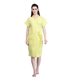 Mark Home Yellow Terry Cotton Bath Robe