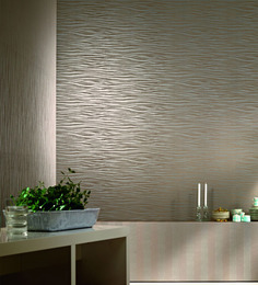 Marshalls Wallcoverings Grey Non Woven Fabric Wave Wallpaper