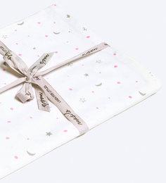 Masilo Star Organic Cotton Bedsheet in Pink Colour