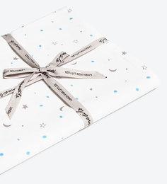 Masilo Star Organic Cotton Bedsheet in Sky Blue Colour