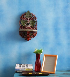MasterCrafts Red & Green Wooden Indian Phab Maple Wall Rack