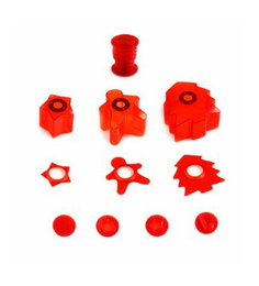 Mastrad Red ABS Plastic & Stainless Steel Cutting & Decoration Kit-Holidays - Set of 11