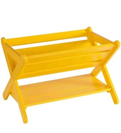 Mathew Cross Comics Magazine Rack in Yellow Colour by Asian Arts