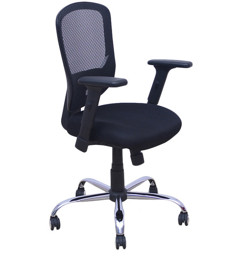 matrix mid back office chair in black colour by home buy matrix mid office chair