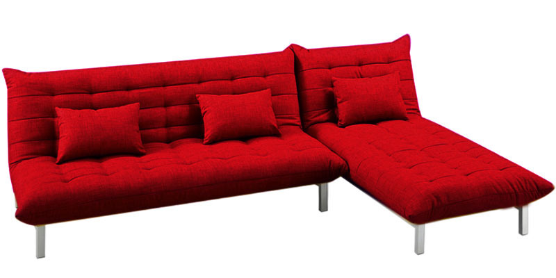 Buy Madison L Shaped Sofa Bed In Red Colour By Furny