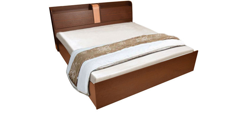 Magna Queen Size Bed in Walnut Finish by HomeTown