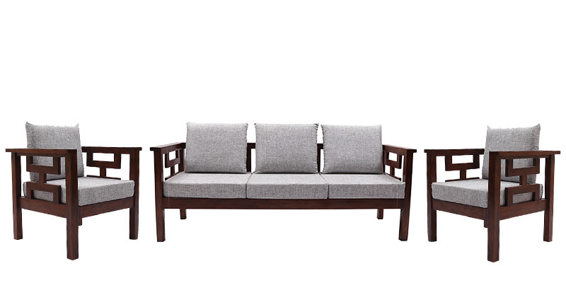 Buy Mariana Teak Wood Sofa Set 3 Seater 1 Seater 1