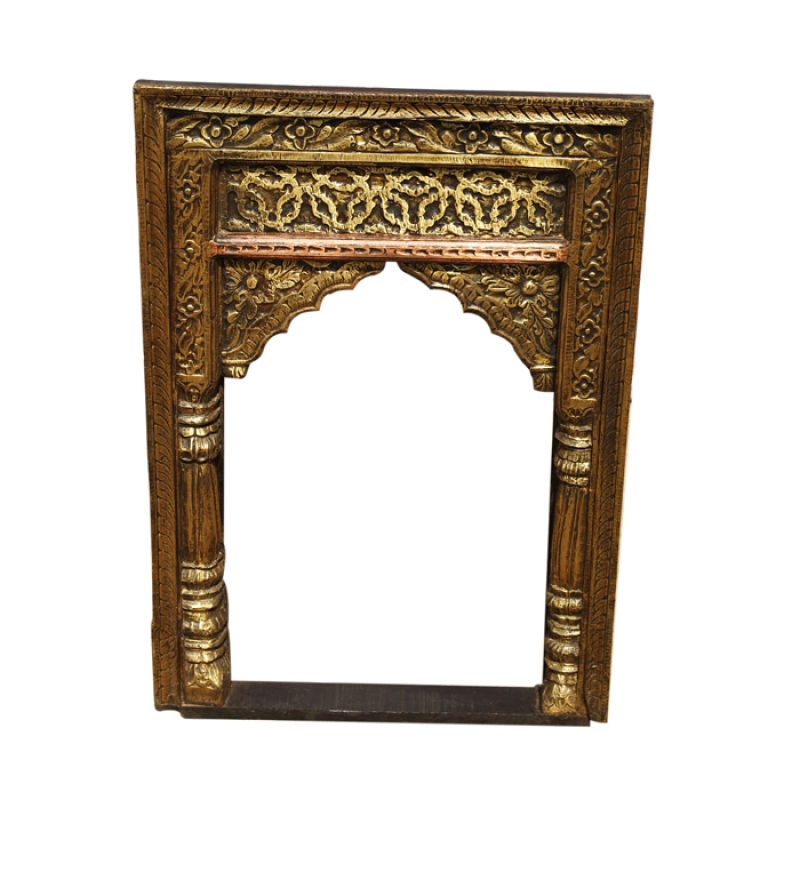 mango wood jharokha mirror frame by market finds online
