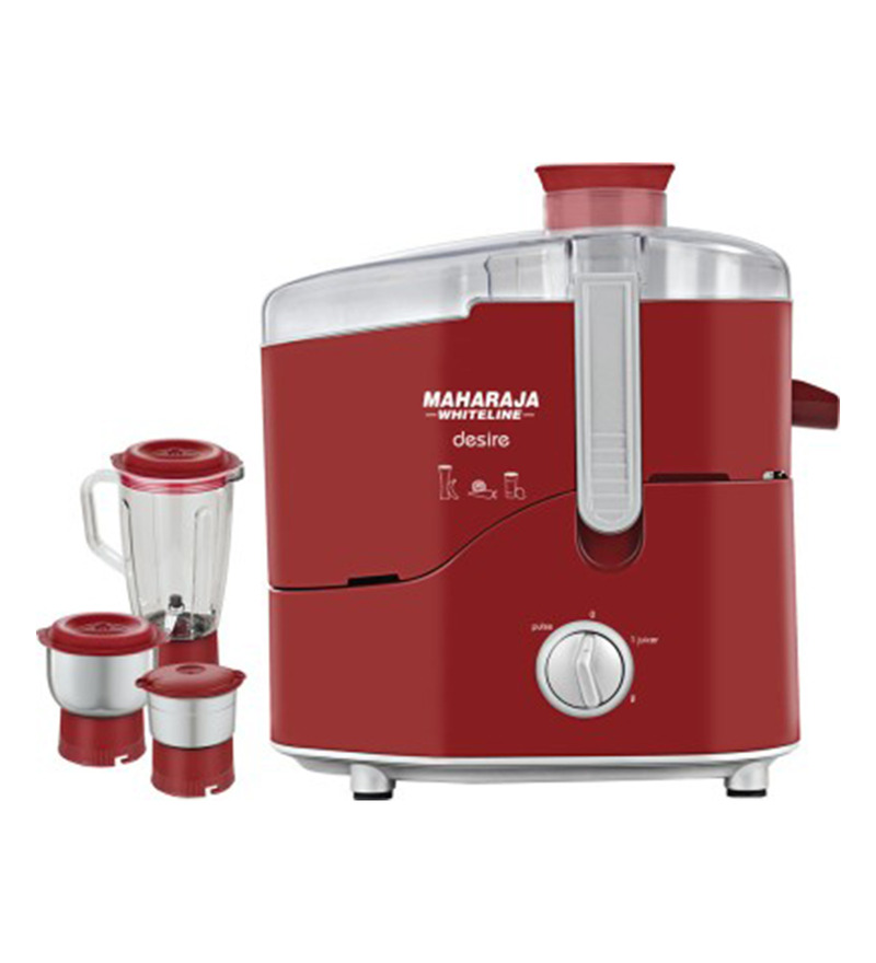 Maharaja Whiteline Desire Red Treasure 550 W Juicer Mixer Grinder  available at Pepperfry for Rs.3899