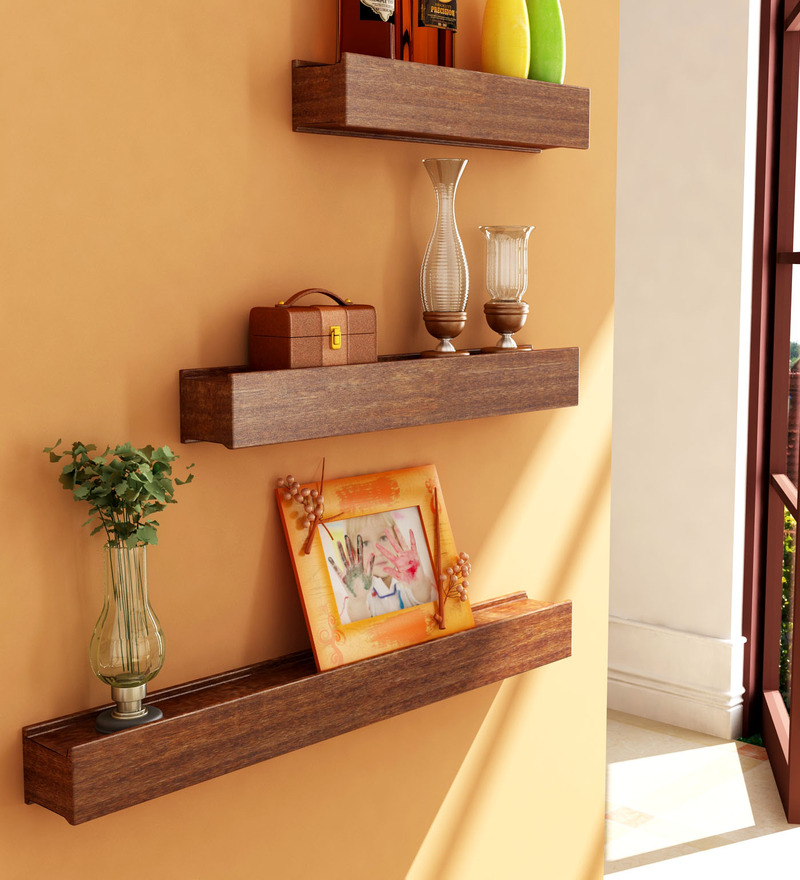 Mango Wood Wall Shelves Set Of 3 By Home Sparkle Online